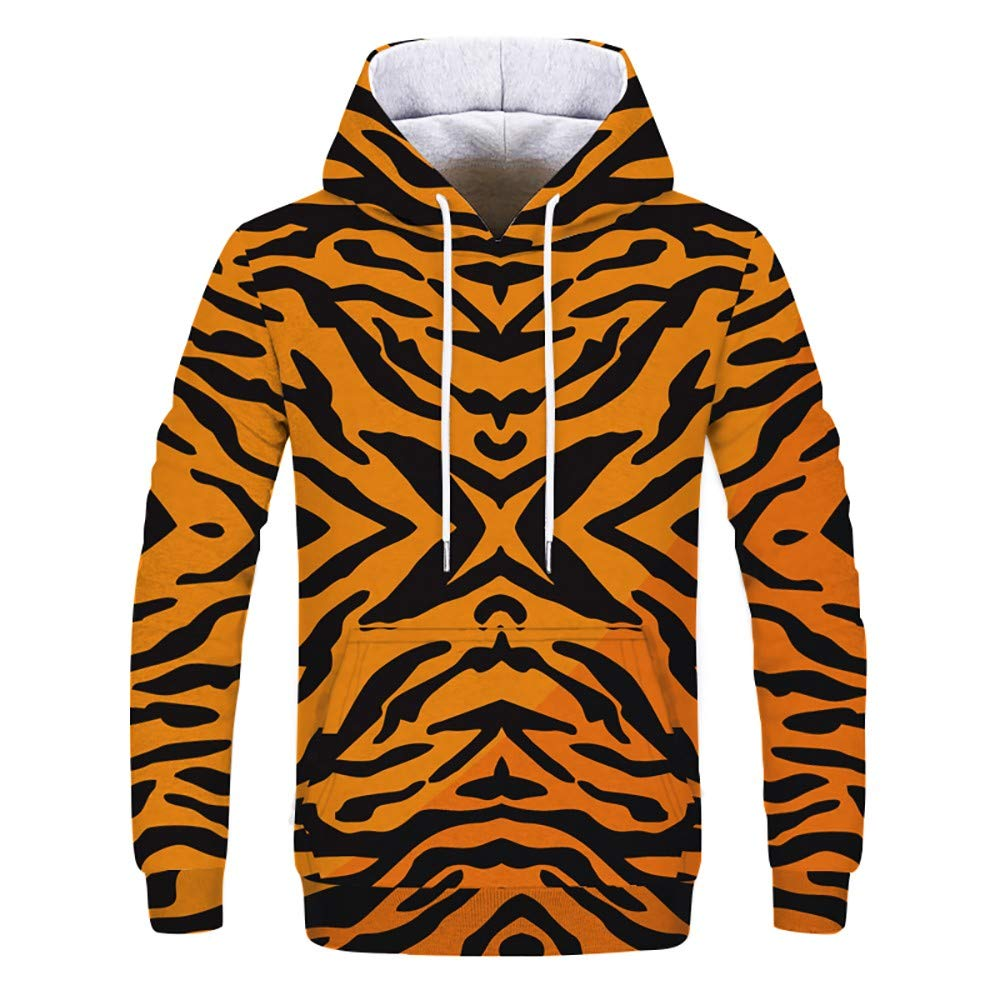 Lady With Tiger Printed Jacket Fleece Hooded Jackets Long Sleeves