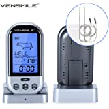 VENSMILE Kitchen Remote Food Thermometer Wireless Meat Thermometer for BBQ Oven Smoker - 2 Stainless Steel Probes