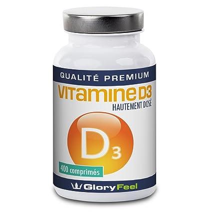 Gloryfeel Vitamina D – 400 de Alta dosis, Pastillas de Vitamina D végétaliens – 8000