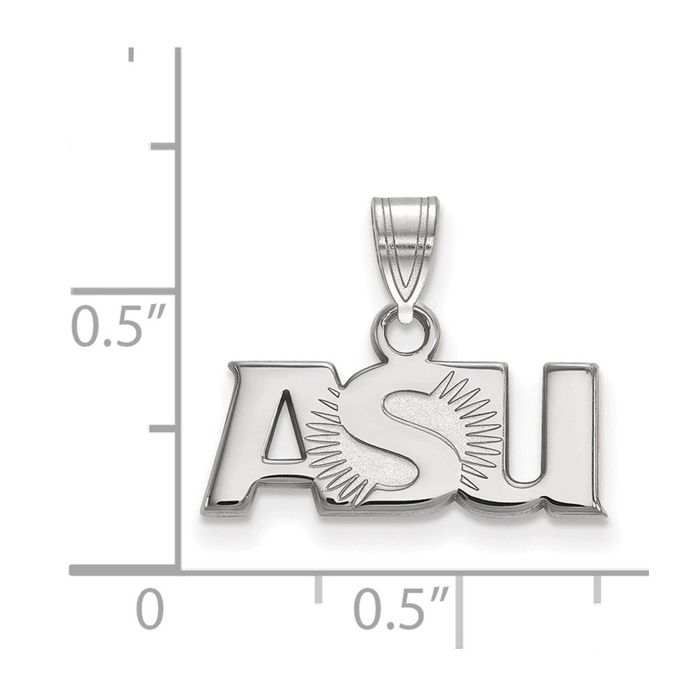 14 mm x 18 mm 925 Sterling Silver Officially Licensed Arizona State University College Small Pendant