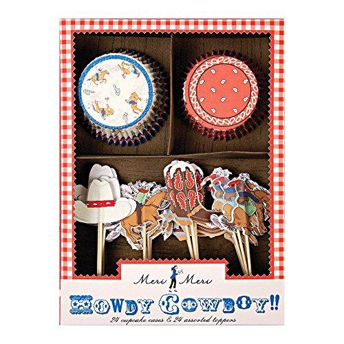 Meri Meri Howdy Cowboy Cupcake Kit -