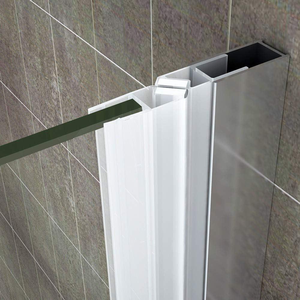 MAYA Cabine de douche H 190 cm verre transparent 80x120 cm