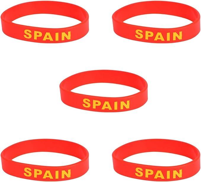 Garneck 10 Piezas España Pulsera de Silicona con Bandera de País ...