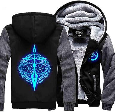 Gumstyle Fate Zero Fate Stay Night Anime Unisex Luminous Full-Zip Hoodie Coat Winter Thicken Fleece Warm