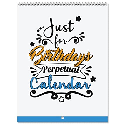 Amazon Com Just For Birthdays Perpetual Calendar 24 Page 6 X 8
