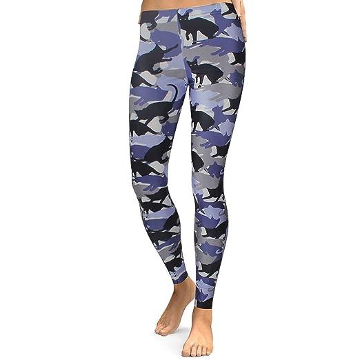 d99eab68dd Amazon.com  Women Fashion (Purple) Camo Animal Cat Print Leggings ...