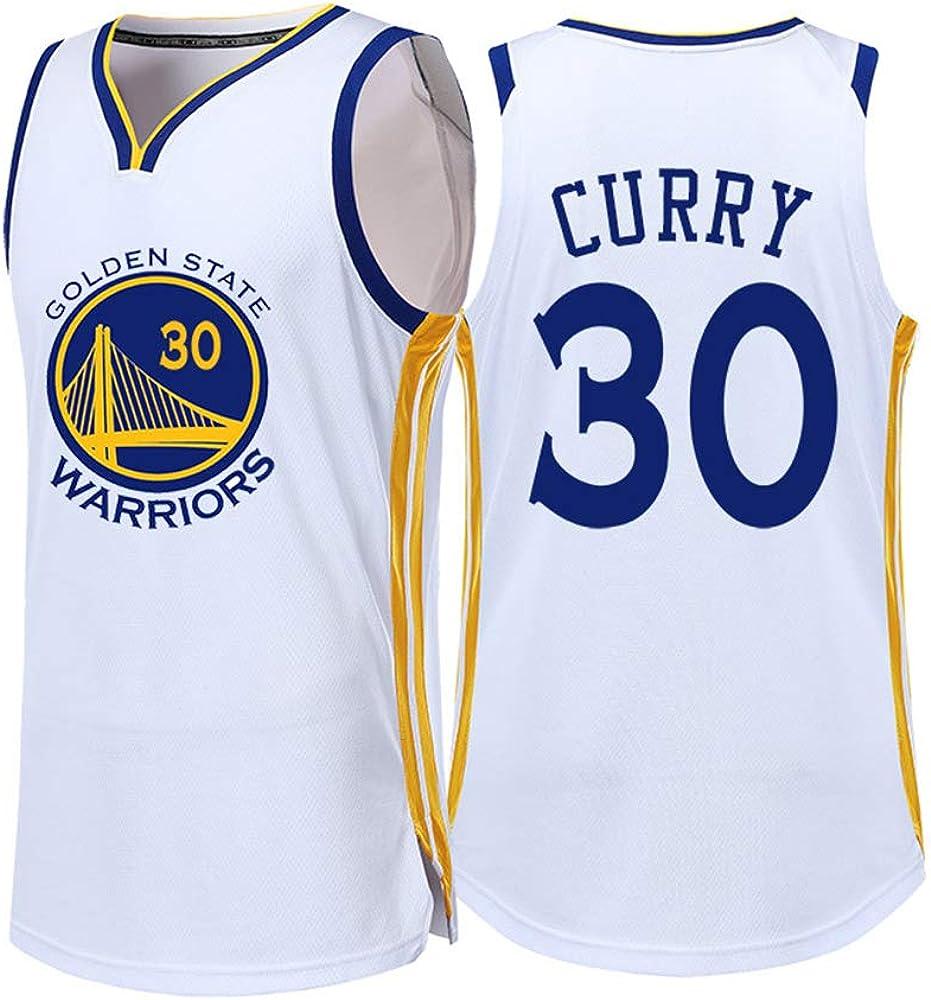 para los fanáticos de # 30 Stephen Curry Golden State Warriors Baloncesto Jersey Niños Junior Ropa Deportiva Camisa Chaleco Top Verano Camiseta Hombre Mujer #blanco-White-2XS: Amazon.es: Ropa y accesorios
