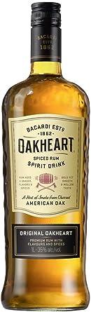 Bacardí Oakheart ron condimentado 1L: Amazon.es: Alimentación ...