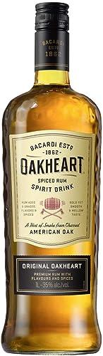 Bacardí Oakheart ron condimentado 1L: Amazon.es ...