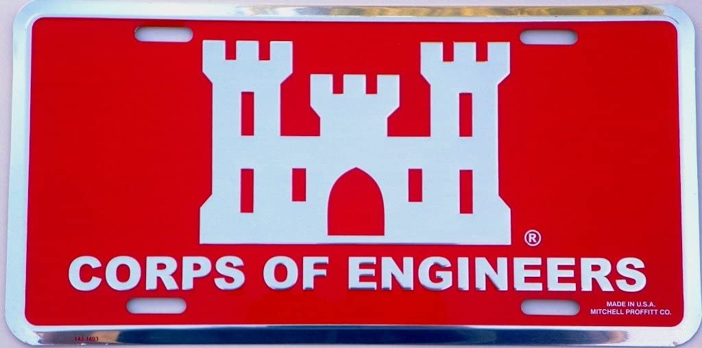 Army Corps of Engineers License Plate