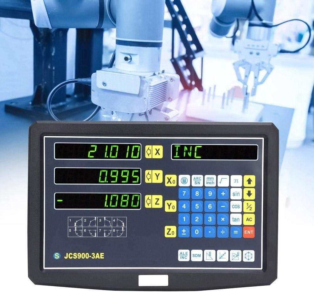 JCS900-3AE Pantalla de escala de lectura 0~3020 mm DC5V 1 m//s TTL Fresadora Codificador Pantalla num/érica Tabla 1 Accesorios con colores aleatorios Enchufe de la UE