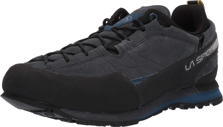 La Sportiva Boulder X Approach Shoe, Carbon/Opal, 44.5