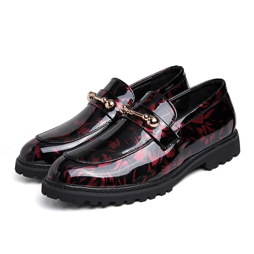 Scarpe da Uomo rossoonde Toe Floral Lace Lace Lace Up in Pelle Oxford Fashion British Slip-on Penny Loafer con Bottoni Metallici Scarpe da Cricket 055d6c