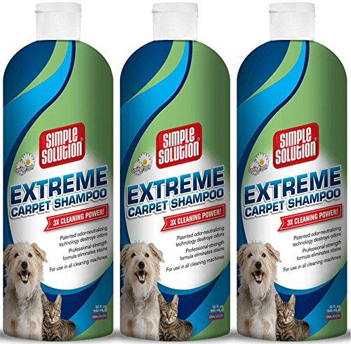 Simple Carpet Bramton Solution (Simple Solution Extreme Carpet Shampoo Bottle, 96oz (3 x 32oz))