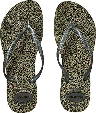 Havaianas Women's Slim Animals Flip Flop Sandals Olive Green 6