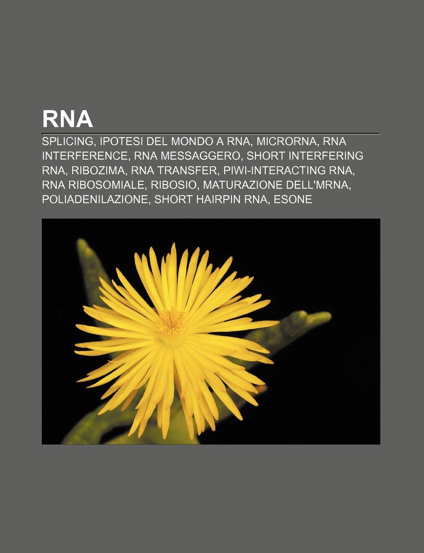 RNA: Splicing, Ipotesi del mondo a RNA, MicroRNA, RNA ...