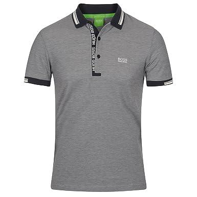 ec6b43c45 BOSS Hugo Green Mens Paule 4 Polo, Oxford Pique Night Watch Navy Polo  Shirt: Amazon.co.uk: Clothing