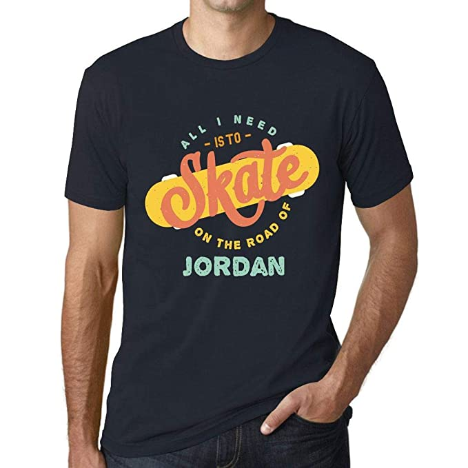Hombre Camiseta Vintage T-Shirt Gráfico On The Road of Jordan Marine: Amazon.es: Ropa y accesorios