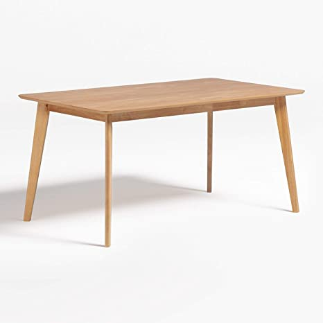 Sklum Kerhen Rectangular Dining Table Made Of Natural Natural Natural Brown Amazon De Kuche Haushalt