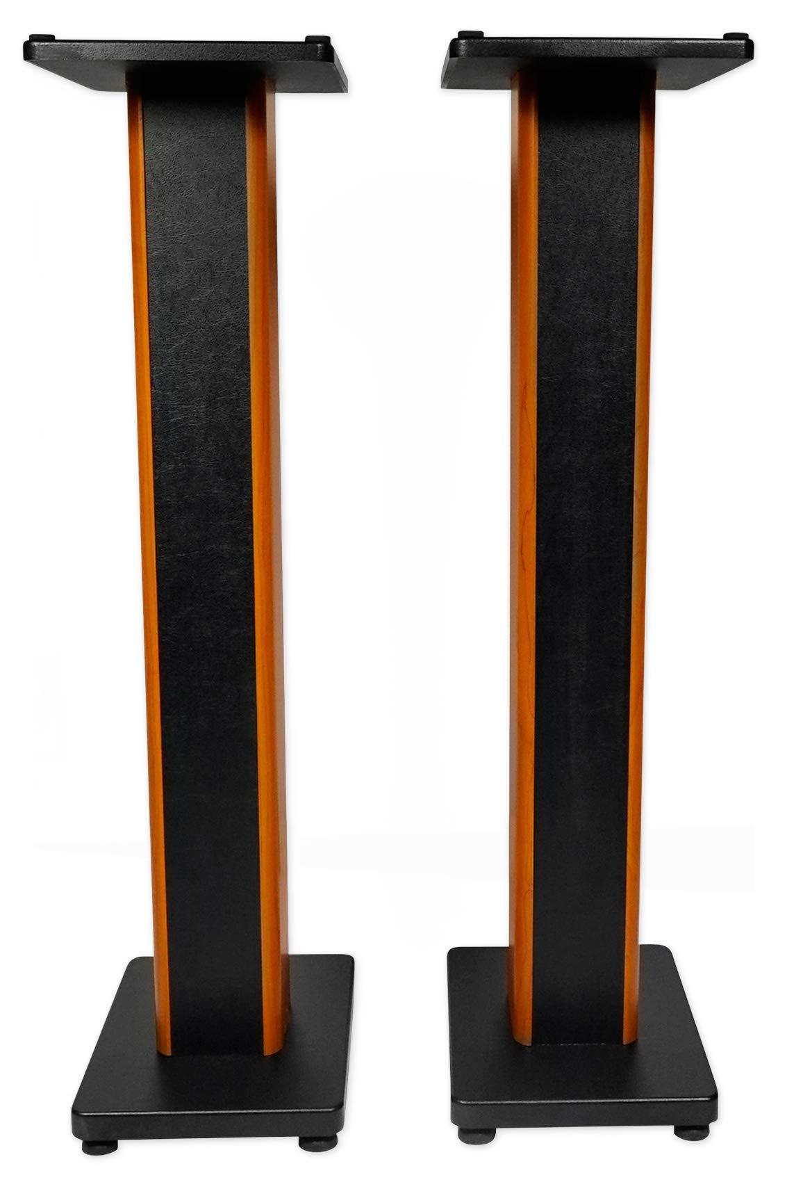 Rockville 2 RHTSC 36'' Inch Bookshelf Speaker Stands Surround Sound Home Theater
