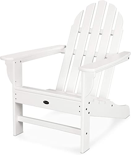 Trex Outdoor Furniture Cape Cod Adirondack Chair, Classic White