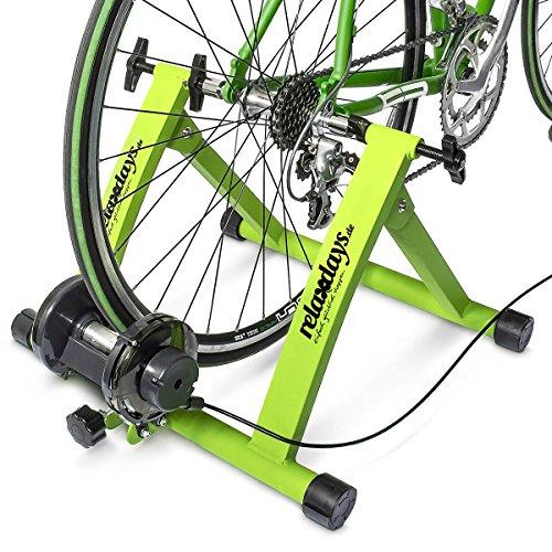 Relaxdays Simulateur de vélo pliable avec 7 niveaux de résistance Rouleau réglable