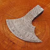 Handmade Damascus Steel Axe Hatchet Head only JNR9018