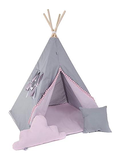Kinder Spielzelt Teepee Tipi Set für Kinder drinnen draußen Spielzeug Zelt  Indianer Indianertipi mit Fenster usw. Tipi ohne Zubehör