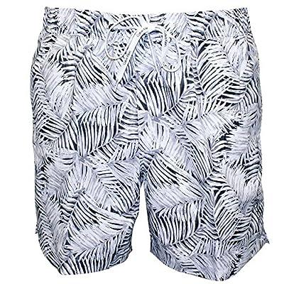 Calvin Klein Jungle Print Men's Swim Shorts, White