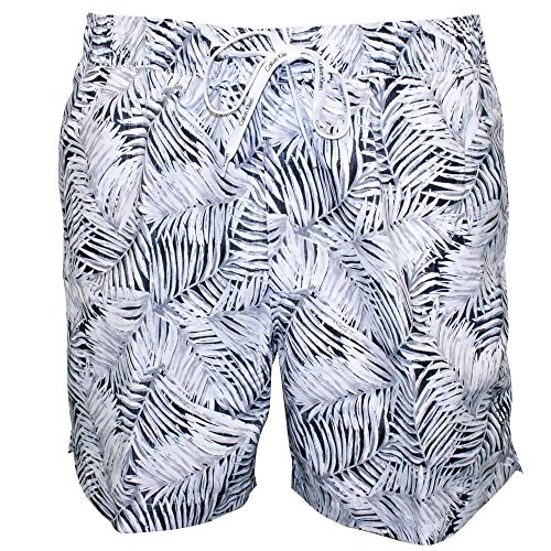 Calvin Klein Jungle Print Men's Swim Shorts, White X-Large White with black by Calvin Klein
