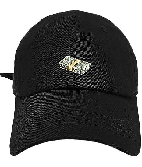 TheMonsta Money Style Dad Hat Washed Cotton Polo Baseball Cap (Black ... e96906e2be32