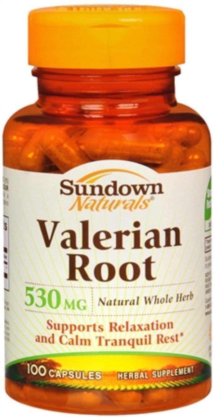 Sundown Valerian Root 530 mg Capsules 100 Capsules (Pack of 10)