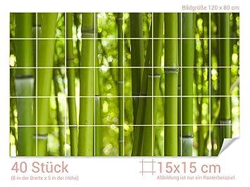 Graz Design 761203 15x15 80 Fliesenaufkleber Bambus Wald Fur Kacheln