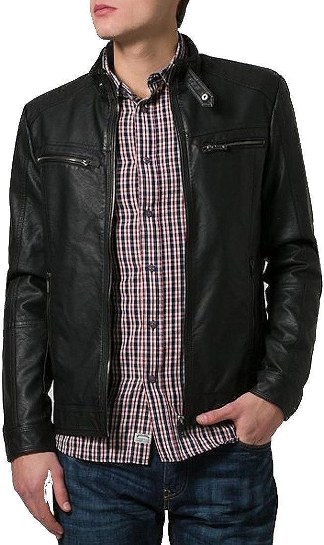 brandMe Mens Genuine Leather Pure Lambskin Biker Jacket MM223