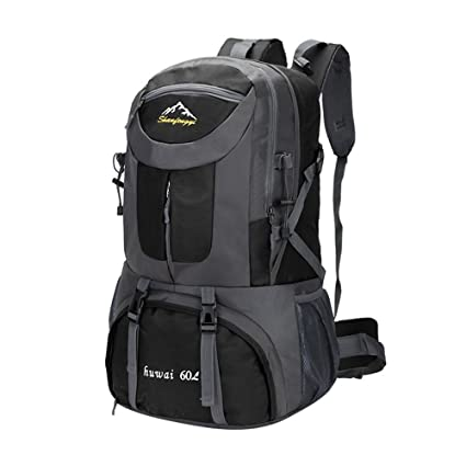 Mountaineering bag large capacity outdoor camping backpack leisure school  bag couple backpack , black , 40l 047a657176