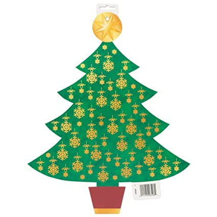 165 Paper Cutout Golden Christmas Tree Decoration Amazonin Home Kitchen