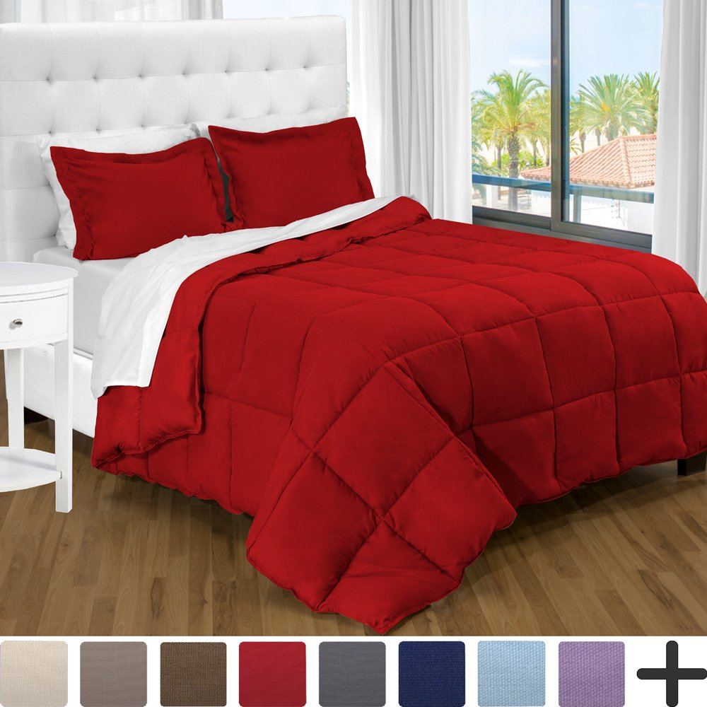 Goose Down Alternative Comforter Set - Hypoallergenic - All Season