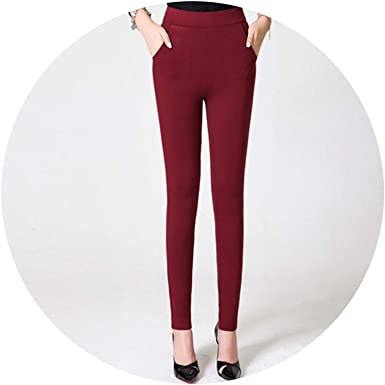 afc5d6fe92 Image Unavailable. Image not available for. Color  Closer-to-U Stretch Pants  High Waist Pencil Skinny Casual Pants Black Trousers Pantalon