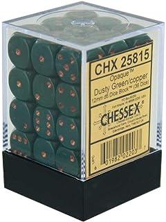 D6 DARK GREY AND COPPER DICE DIE SET CHESSEX opaque 12mm SET OF 36