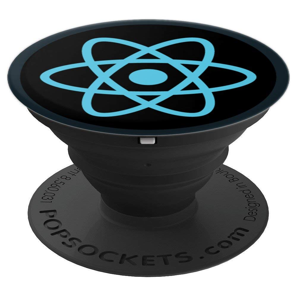 ReactJS Logo Programmers Geeks Nerds Coders Developers - PopSockets Grip and Stand for Phones and Tablets