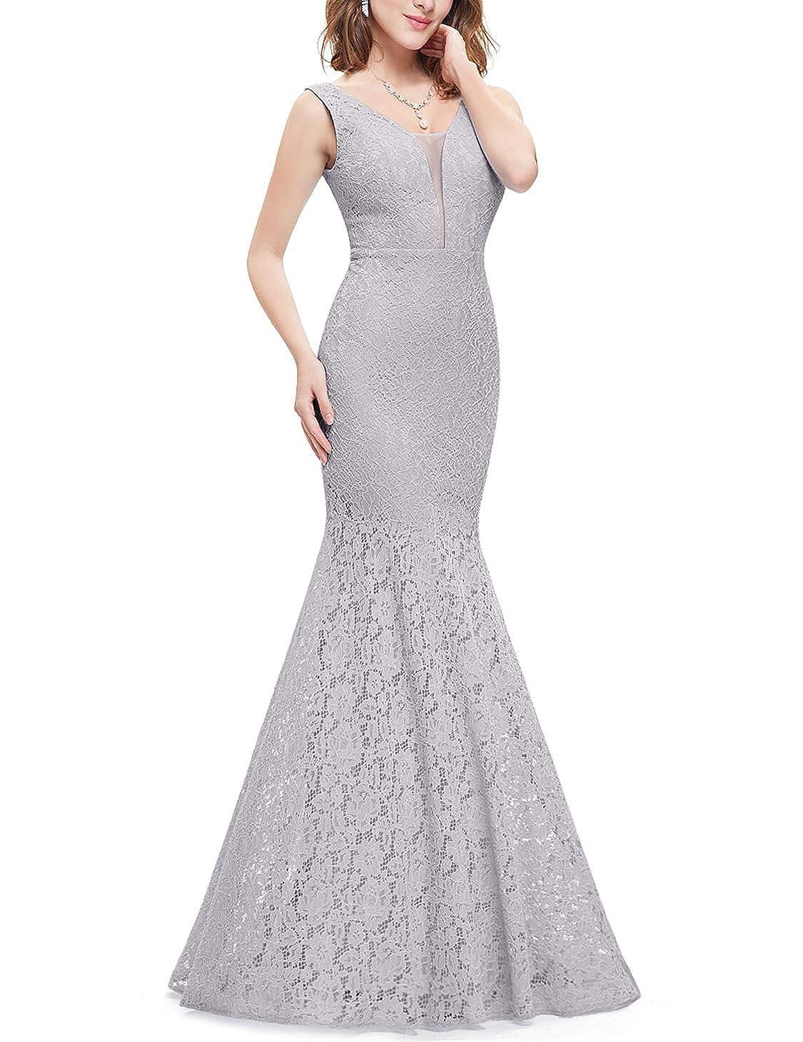da069e5c4cd Ever-Pretty Womens Romantic Sexy Lace Floor Length V-Neck Evening Prom Dress  08838 at Amazon Women s Clothing store