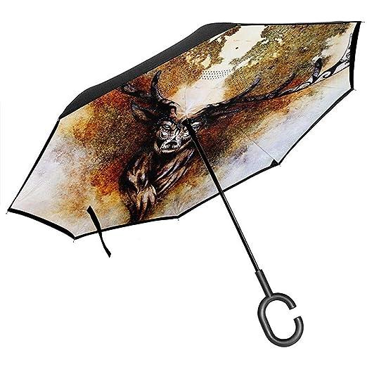 Merle House Paraguas inverso de espíritu de Ciervo mitológico ...