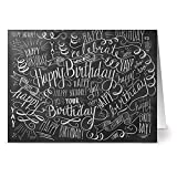 24 Chalkboard Note Cards - Birthday Bash - Blank Cards - Kraft Envelopes Included