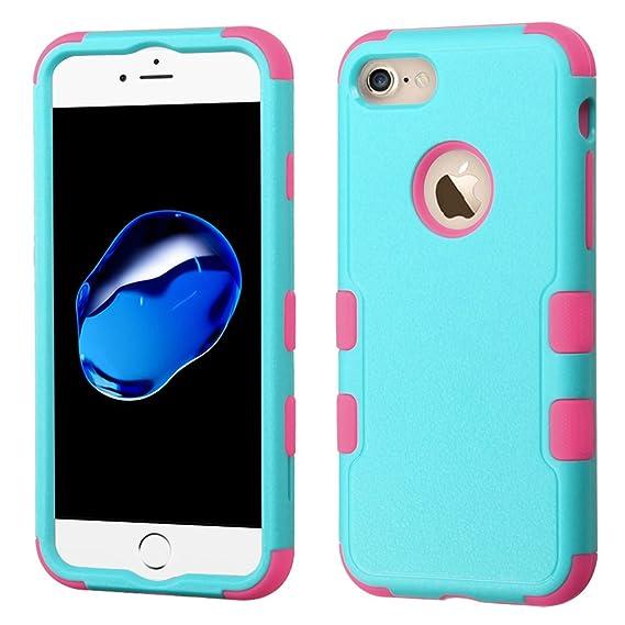 1fb4f7ea5e8 Funda Case para iPhone 7 Doble Protector de Uso Rudo Funda Anti Impactos  Resistente a Caídas