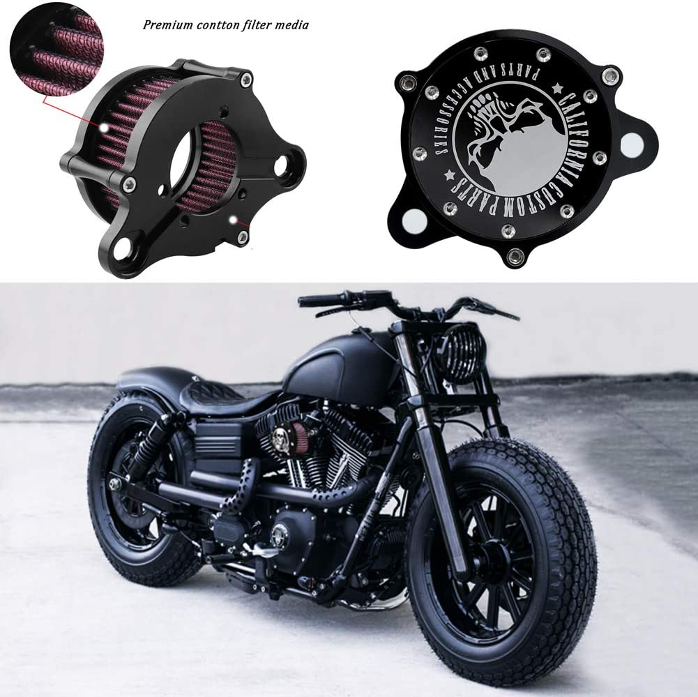 waschbarer Luftfilter f/ür Harley Sportster XL 883 1200 1991-2016 Ansaugfilter System-Kit Motorrad-Luftfilter,Air cleaner Billet Aluminium CNC-gefr/äster
