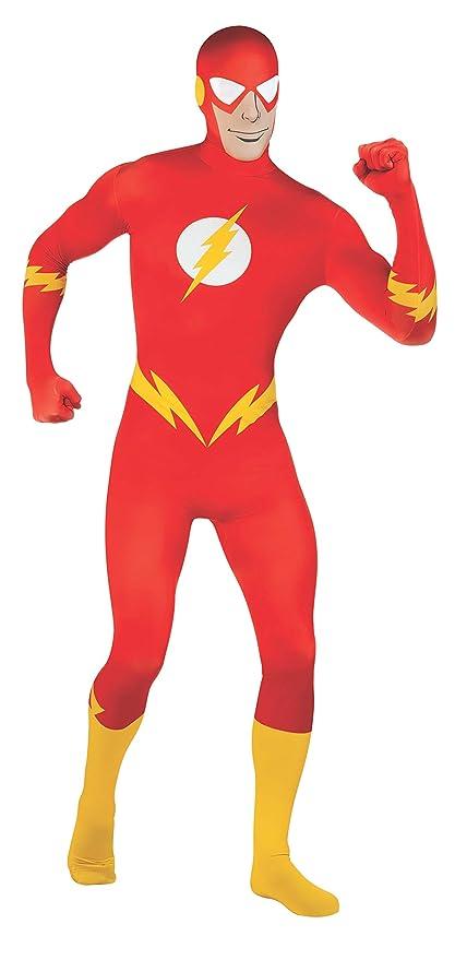 a2b2a39f07fb Flash Costume travestimento tuta adulto taglia M: Amazon.it: Giochi ...