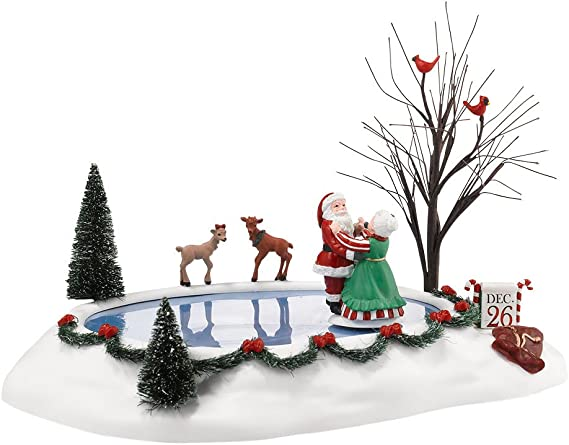 WOODEN SCANDI GIRL SLEDGE SLEIGH SKIING CHRISTMAS DECORATION ORNAMENT TREE GREY