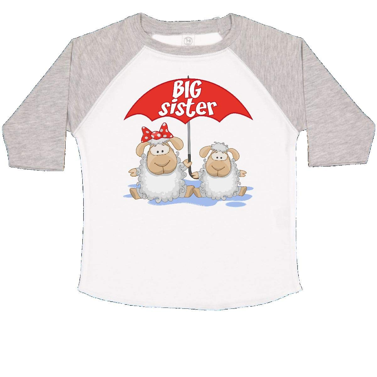 inktastic Big Sister Sheep Toddler T-Shirt