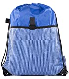 Mato & Hash Drawstring Cinch Bag Backpack With Mesh Pocket Polyester Tote Sack