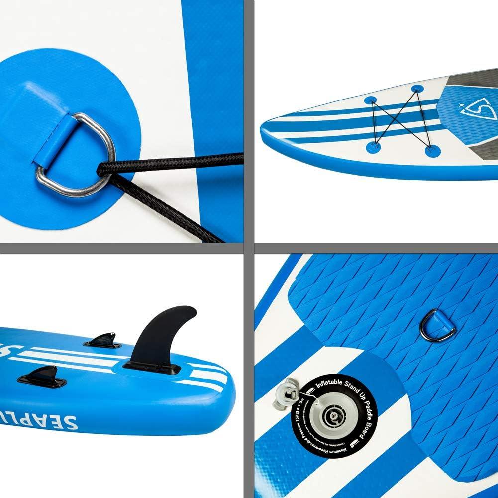 """Carga hasta 140 Kg Paddle Surf Hinchable Tabla Stand Up Paddle Board R/ígida Doble Capa con Accesorios de Remo de Carbono//Inflador//Leash//Mochila Legend 10/'6/""""*32/""""*6/"""""""
